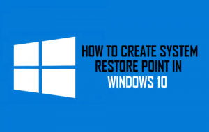 System Restore Point