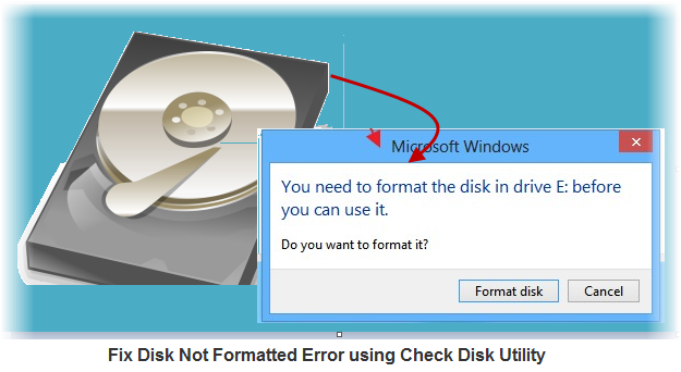 Fix disk not formatted error