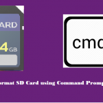 Format SD card using Command