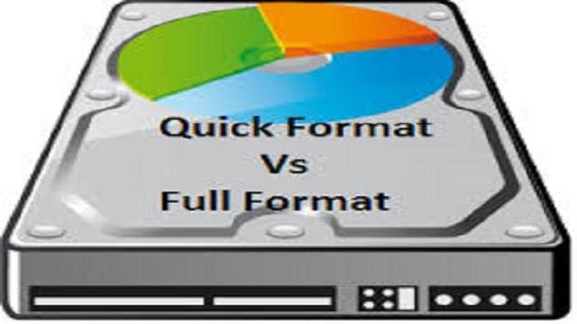 Full Format vs Quick Format