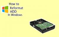 Reformat HDD