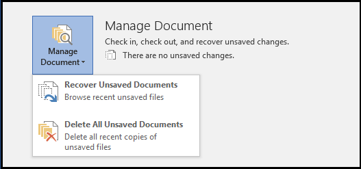 Recover unsaved Word Doc