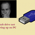 thumb drive not showing on PC
