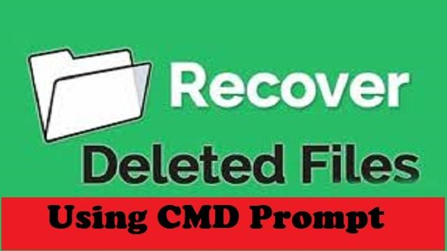 Restore Deleted Files using Command Prompt