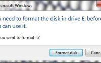 HDD Needs Formatting