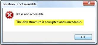 Fix – The Disk Structure is Corrupted and Unreadable without
