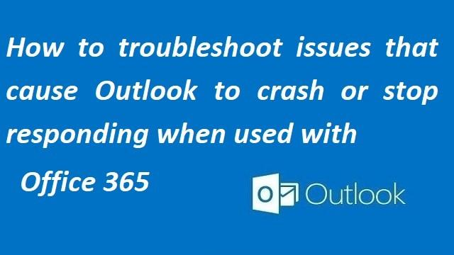 Fix Outlook not Responding or Crashing Error