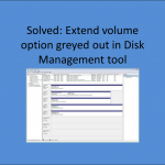 Extended Volume Option Greyed Out