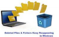 : Files & folders keep reappearing after deletion
