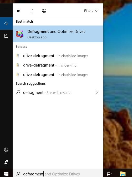 Defrag drive