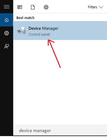 Open Device Manager from start menu