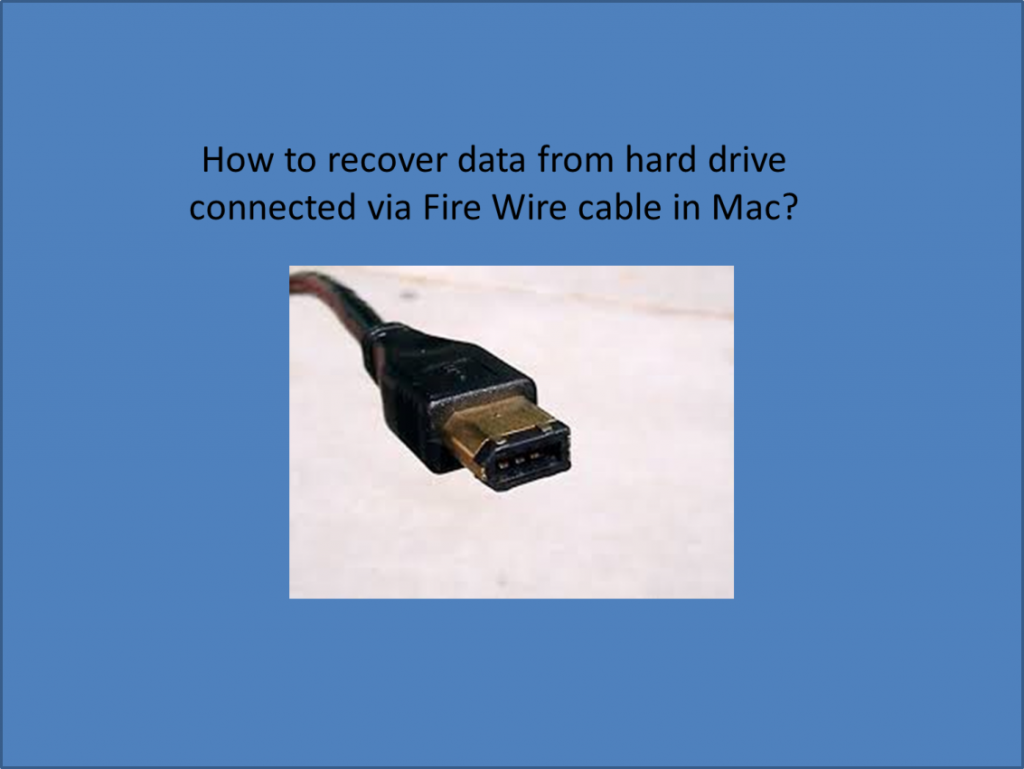 FireWire drive recovery
