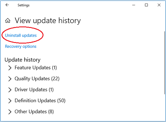 click-uninstall-updates