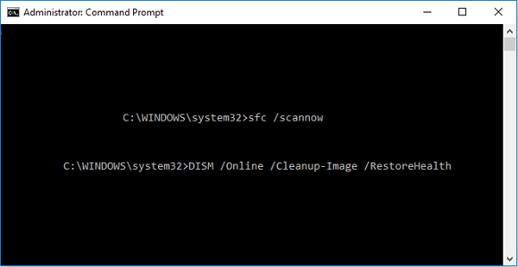 Run Command DISM /Online /Cleanup-Image /RestoreHealth