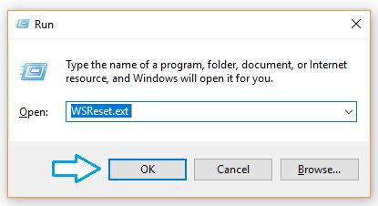Run window reset cache
