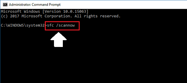Type sfc-scannow