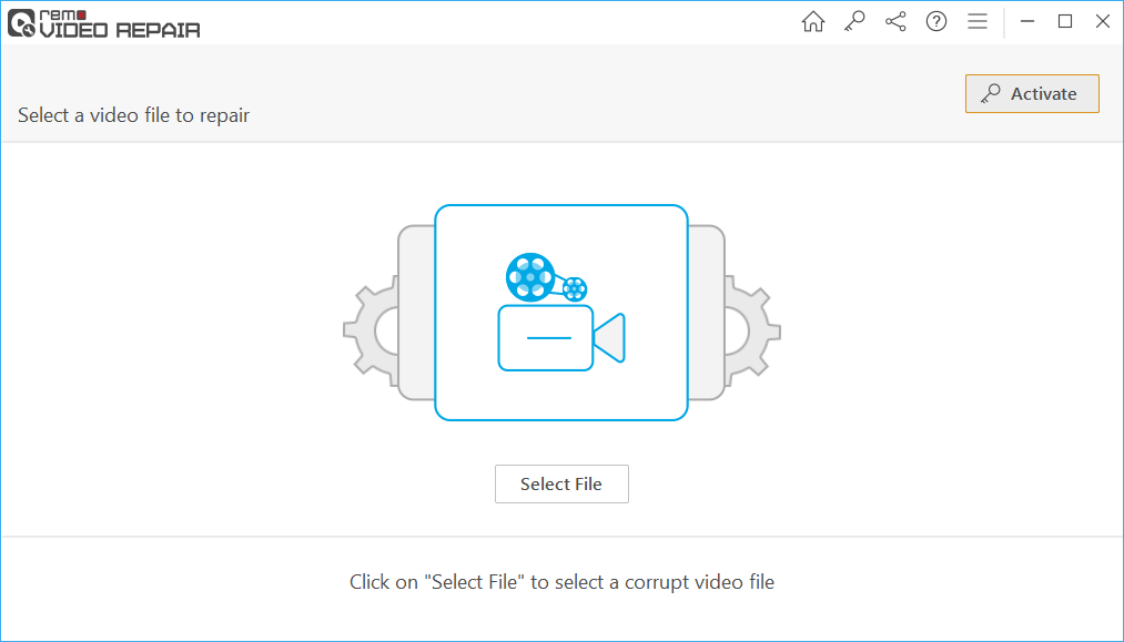 Click on Select File, browse and select the QuickTime black screen video