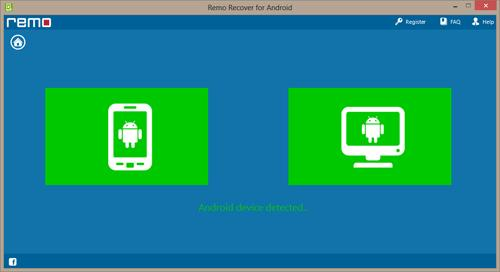Android App Data Recovery - Android Device Detected