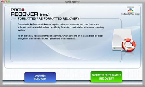 Recover Data from G-Technology 500 GB Mini Drive on Mac - Select Option