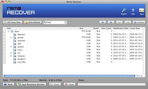 Data Recovery from Iomega Disk on Mac - List Recovered Data