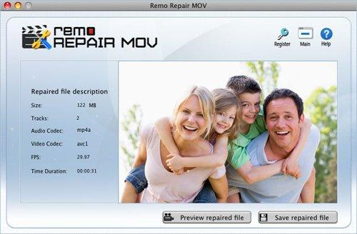 Repair AVI Mac - Save Fixed File