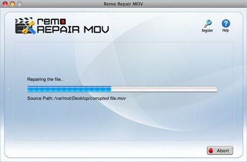 修復QuickTime MOV文件沒有視頻 - repair progress