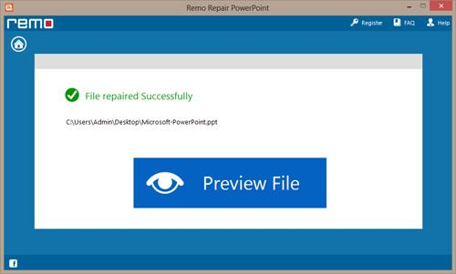 Fix Inaccessible PowerPoint File - Preview Window