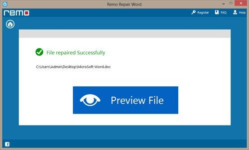 Repair Corrupt DOCX Files - Preview Repaired File