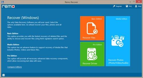 Launch Remo Recover tool to Recover Permanently Deleted Files In Windows 10